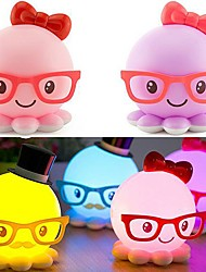 ABS LED USB Small Night Lamp Lovely Octopus Shape (Assorted Color)