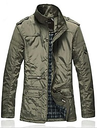 Skymoto®Men's Stand Plus Size Long  Cotton Coat