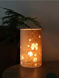 lámpara de pie 1 luz de la novedad el modelo de flor pantalla pergamino 220v