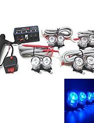 diseño de coches de alarma semáforo de alerta de emergencia 2 x 4 llevó la luz de la parrilla del estroboscópico de emergencia 3w (colores opcionales)