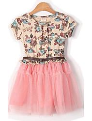 vestido de la granadina algodón puro toboo del niño con el cinturón