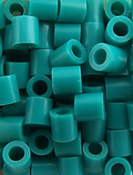 Approx 500PCS/Bag 5MM Lake Blue Perler Beads Fuse Beads Hama Beads DIY Jigsaw EVA Material Safty for Kids