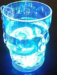 vidro levou crânio cerveja em forma (cor aleatória)