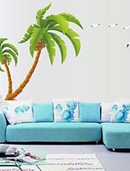 doudouwo® stickers muraux stickers muraux, botaniques magnifiques cocotiers muraux PVC autocollants
