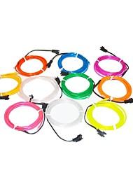 1.6 Meter Flexible Neon Light Glow Decorative 2.3mm Diameter EL Wire with 2AA Battery Pack