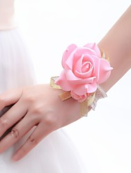 Wedding Flowers Wrist Corsages Wedding As Picture Tulle