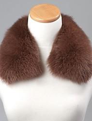 unisex cammello tendenza reale genuino della pelliccia di volpe avvolgere sciarpa collare