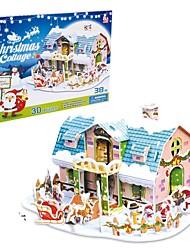 le cadeau de Noël maison intelligente chalet de rêve puzzles 3D (de 38pcs)