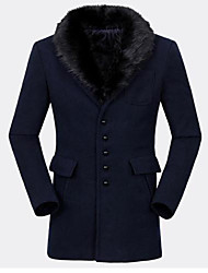 Men's Long Sleeve Coat , Others Pure