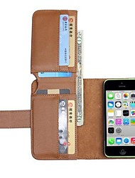 novas carteira de couro casos de corpo inteiro para 5c iphone