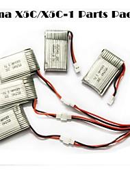 SYMA x5c / x5c-en oppdagelses deler x5c-11 3.7v 500mAh oppdatering 3.7v 680mAh lipo batteri 3 i en kabel linje x 5pcs
