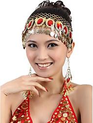 z&accesorios de la danza del vientre de la moda x® 8 taladro cuelgan monedas hebilla cabeza pendientes