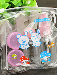 5Pcs Transparent Plastic Travel Bottle Set