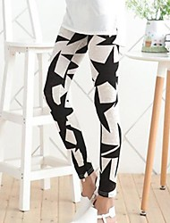 Women's Black Five-Pointed Star Leggings