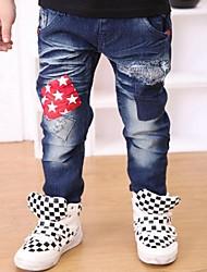 moda niños de estrellas azules caen en jeans