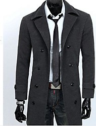 Men's  Long in Korean Style  Slim Trench Coat