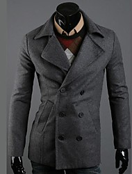 Men's Solid Casual / Work / Formal Coat Long Sleeve
