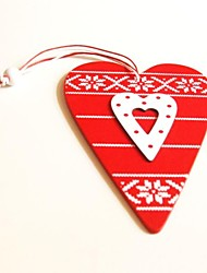 Christmas Hanging Decoratives  Mini Love Heary Shape 1 PC MDF Materiels for Christmas Decorations