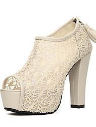 Lolid Women's Lace Open Toe Shoes