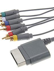 Component AV Cable pour xbox 360 (8ft, noir)