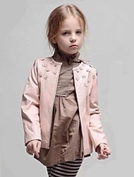 Girl's Jacket & Coat,Floral PU Spring / Fall