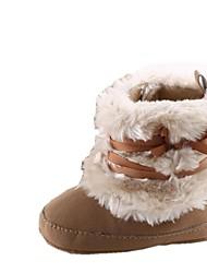 Zapatos de bebé Al aire libre/Informal Piel Artificial Botas Rojo/Blanco/Caqui