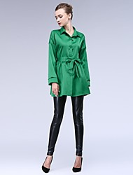 Women's Button Down  Skinny Trench Coat