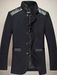 chunzheng stand de mode de manteau de laine moulante de collier des hommes