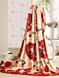 Qianhui домой цветок печати одеяло 200 * 230 см