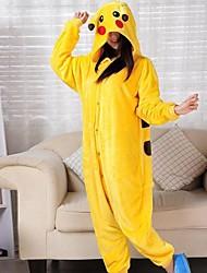 encantadora pikachu pijama de franela amarilla Kigurumi animales traje de halloween