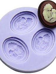 мать и сын помадкой торт шоколадный смолы глины конфеты силиконовые формы, l6m * w6cm * h1cm