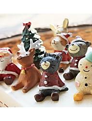 10pcs carino piccolo animale da abiti bambola di Natale per i giocattoli di Natale decorazione