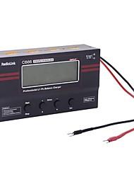 melodía CB86 3.0 '' pantalla cargador del balance de la batería de litio para los aviones de control remoto - negro