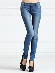 Women's Waist Foot Women's Skinny Denim Cropped Pants