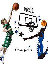 Doudouwo® Sports The Strong Basketbal Player Wall Stickers