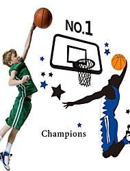 doudouwo ® Sport die starken Spieler basketbal Wandaufkleber