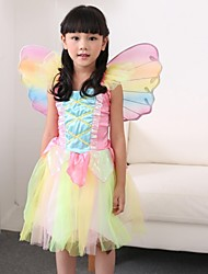 Girl's Rainbow Angel Skirt Tinker Bell Halloween Cosplay Dress