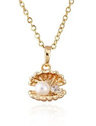 Women's Cute Design 18K Gold Plated Cubic Zircon Necklace D0283