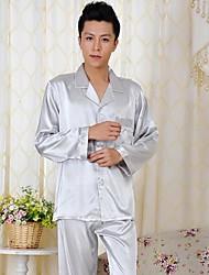 hommes furuixiang® de mode avec le tissu en soie imité à manches courtes et l'usure de la maison