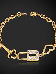 Bracelet fantaisie or 18k du platine U7 femmes