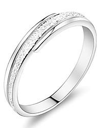 Couple de Bagues ( Argent sterling/Zircon ) Mariage/Soirée/Quotidien/Casual