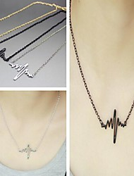 Necklace Vintage Necklaces Jewelry Daily / Casual Fashion Alloy Gold / Black / Silver 1pc Gift