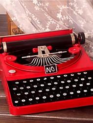 4.3''h de metal retro artigos velha máquina de escrever para decoração
