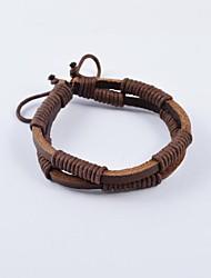 Mode für Männer Seil gewickelt Lederarmbänder