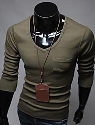 thaihoo Männer Rundhals einfarbig T-Shirt