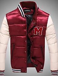 Men's Fashion M Word Embroidery Baseball Coat