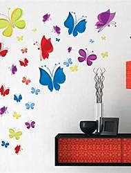 Декоративные наклейки на стену с изображением красочных бабочек