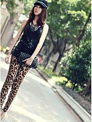 женские на молоко шелковые гетры леопарда печати