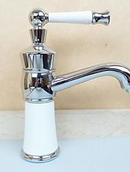 style contemporain chrome entraxe de finition robinet lavabo
