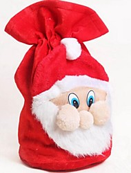 Christmas Santa Claus Velvet Handbag Candy Gift Bag